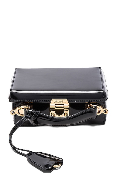 Mark Cross Grace Mini Box Bag in Brush Off Black