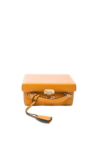 Mark Cross Grace Small Box Bag in Sunflower