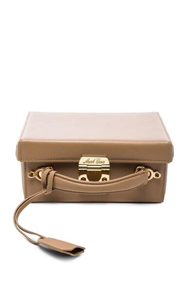 Mark Cross Grace Small Box Bag in Nude