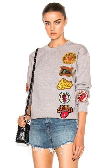 Madeworn Rolling Stones 1978 Sweatshirt in Ash
