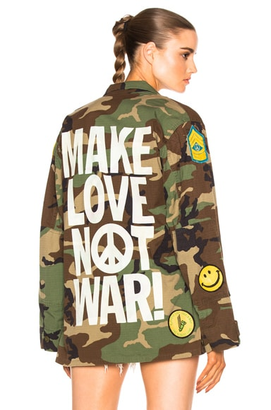 Madeworn Make Love Not War Jacket in Camo