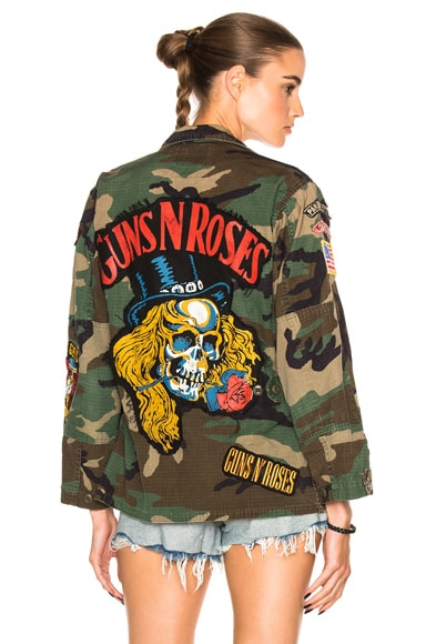 Madeworn Welcome to the Jungle Skull Jacket in Camo