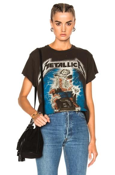 Madeworn Metallica Ride The Lightning Tee in Dirty Black