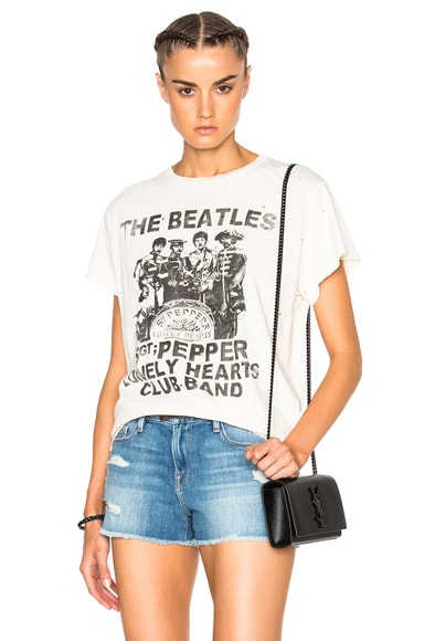 Madeworn The Beatles Tee in Dirty White