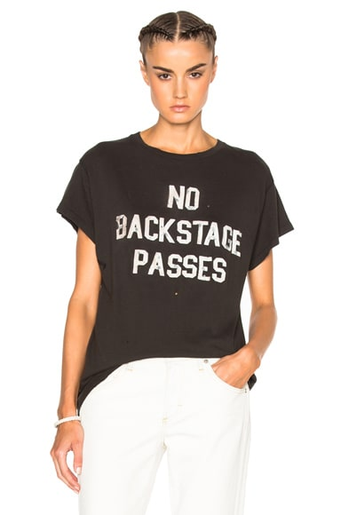 Madeworn No Backstage Passes Tee in Dirty Black