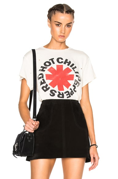 Madeworn Red Hot Chili Peppers Tee in Dirty White