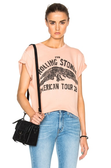 Madeworn Rolling Stones 1978 Tee in Washed Peach