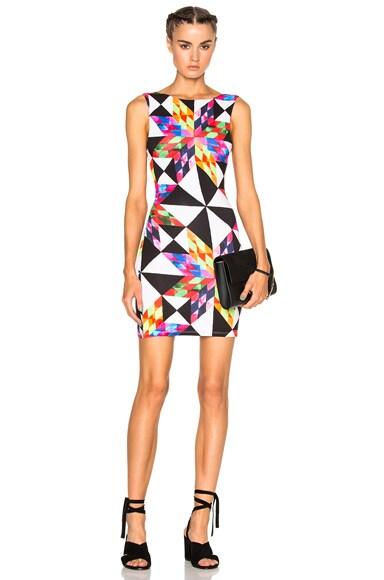 Mara Hoffman Modal Cut Out Back Dress in Peach Multi