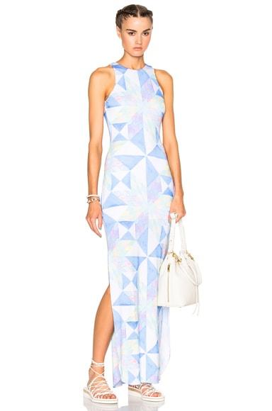 Mara Hoffman Modal Column Dress in White Multi