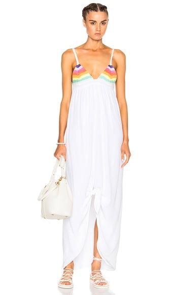 Mara Hoffman Crochet Tie Front Dress in Rainbow Multi