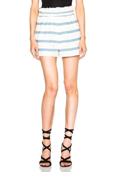 Mara Hoffman Novelty Stripe Shorts in White