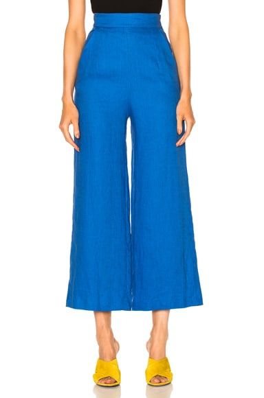 Mara Hoffman High Waist Crop Pant in Cobalt