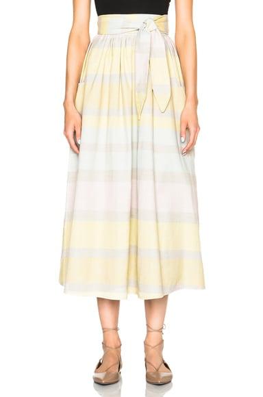 Mara Hoffman Gathered Skirt in Gradient Stripe