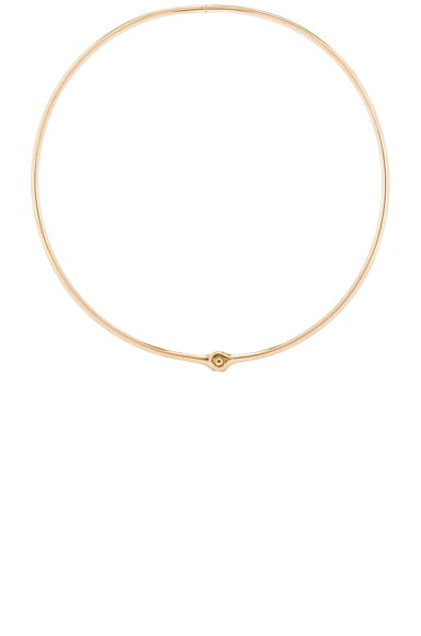Miansai Thin Reeve Choker in Polished Gold