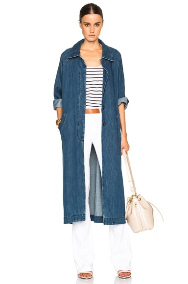 M.i.h Jeans Raglan Denim Coat in Stone Blue