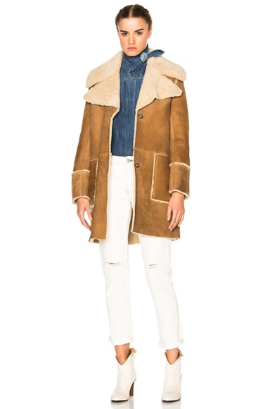 M.i.h Jeans Fairport Shearling Coat in Bronze