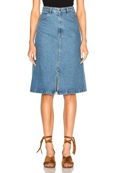 M.i.h Jeans Parra Skirt in Preshrunk Blue