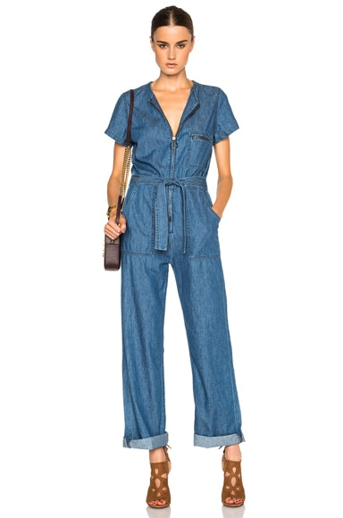 M.i.h Jeans Saint All In One Jumpsuit in Duffle Blue