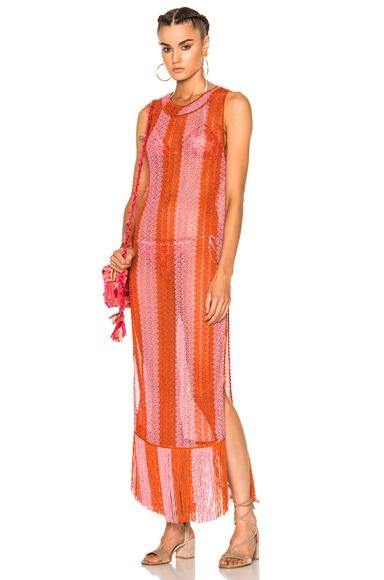 Missoni Mare Maxi Dress in Red
