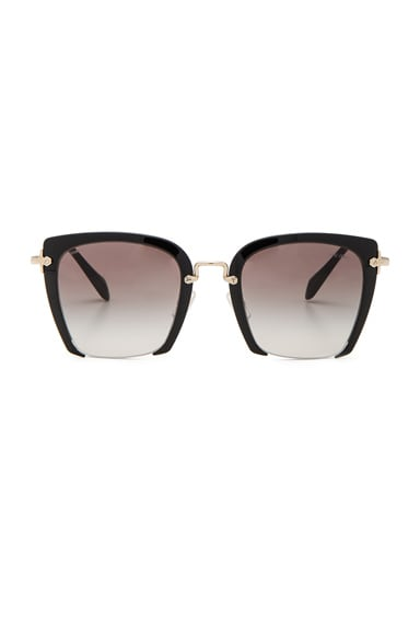 Miu Miu Square Sunglasses in Black