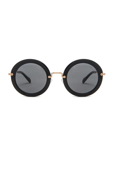 Miu Miu Circle Sunglasses in Black