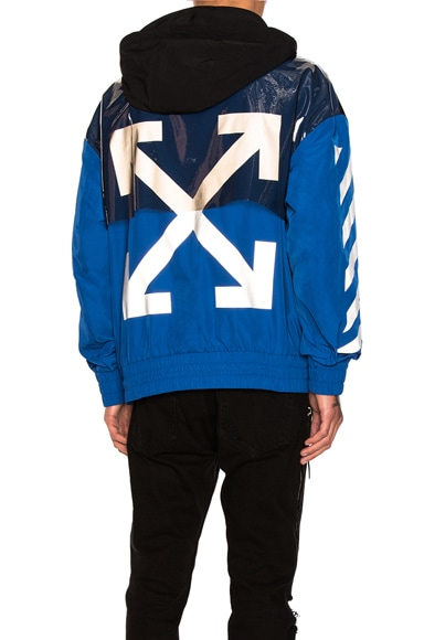 Moncler x Off White Jacket in Black & Blue