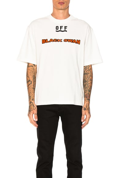 Moncler x Off White Black Swan Tee in White