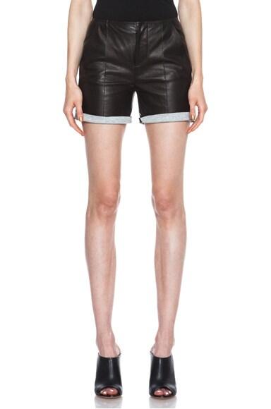 Lambskin Leather Shorts