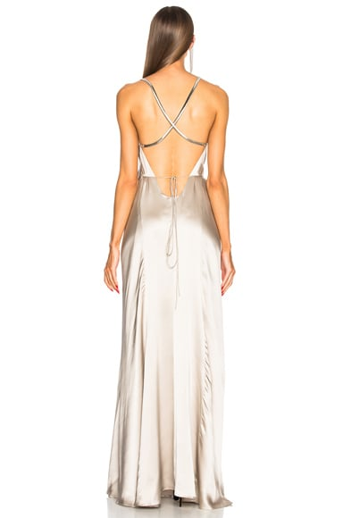 Chain Wrap Gown
