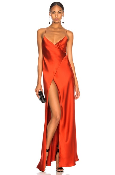 x FWRD Strappy Wrap Gown