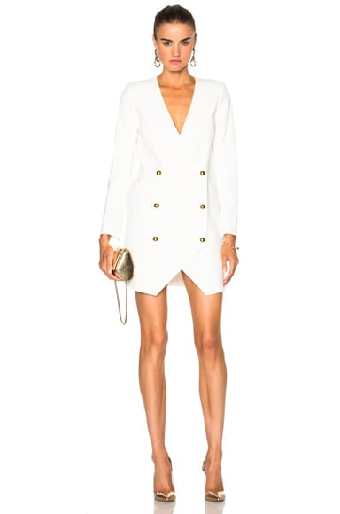 Michelle Mason Blazer Dress in Ivory