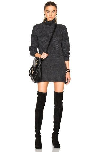 Michelle Mason Sweater Dress in Carbon
