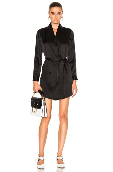 Michelle Mason Belted Dress Jacket in Black