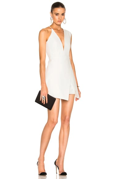 Asymmetrical Plunge Mini Dress