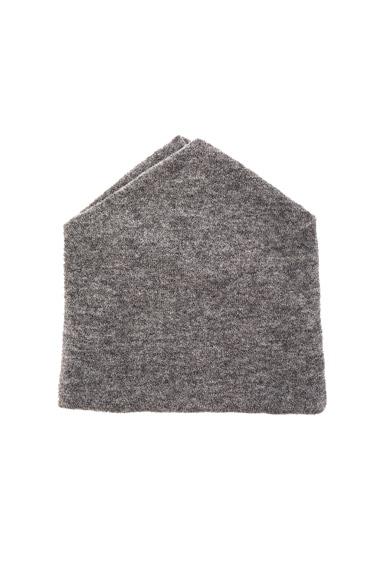 Michelle Mason Angora Wool Beanie in Grey