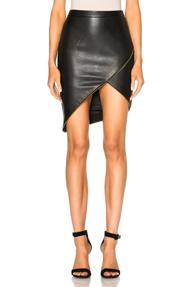 Michelle Mason Asymmetric Skirt in Black