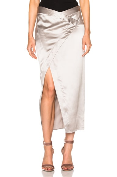 Michelle Mason Wrap Skirt in Platinum