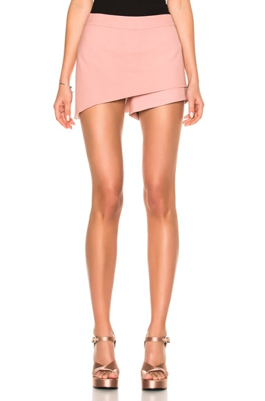Michelle Mason Asymmetrical Skort in Dark Blush