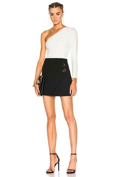 Grommet Mini Skirt