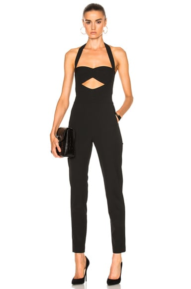 Cut Out Bandeau Halter Jumpsuit