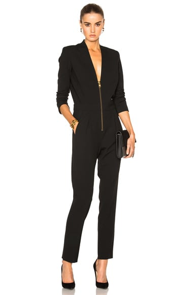 Michelle Mason Zipper Jumpsuit in Black