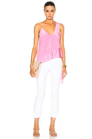 Michelle Mason Asymmetrical Cami in Bubblegum