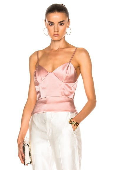 Michelle Mason Bustier Cami in Dark Blush