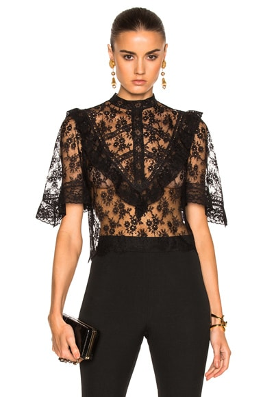 Michelle Mason Victorian Blouse in Black