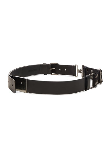 Military Canvas & Calf Leather Belt