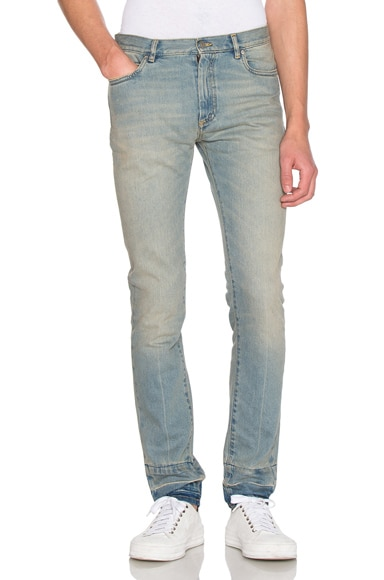 Stonewashed Skinny Fit Jeans