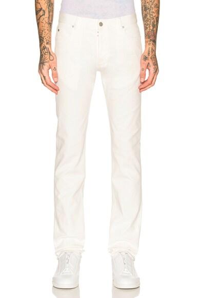Garment Dyed Slim Stretch Jeans