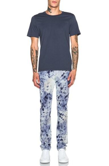 Slim Fit Spotty Denim Jeans
