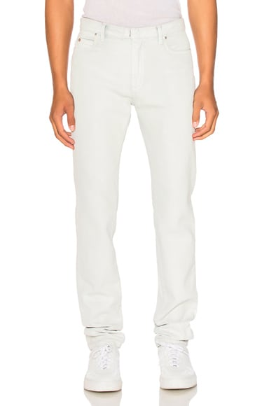 Maison Margiela Stone Wash Bleach & White Paste Slim Fit Jeans in Off White
