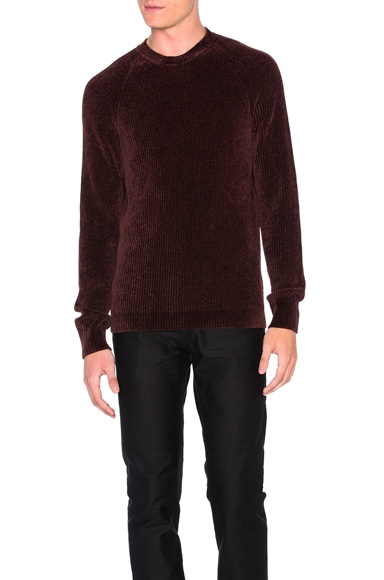 Maison Margiela Cardigan Stitch Pullover Sweater in Chocolate